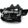 MERCEDES AMG GTR 4X4 24V ZWART 2 PERSOONS met beeldscherm en ventilator/airco