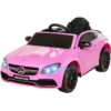 Mercedes C63 AMG roze 12V met LEREN stoel