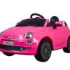 Fiat 500 Roze 12volt Kinderauto Accu Auto Speelgoed