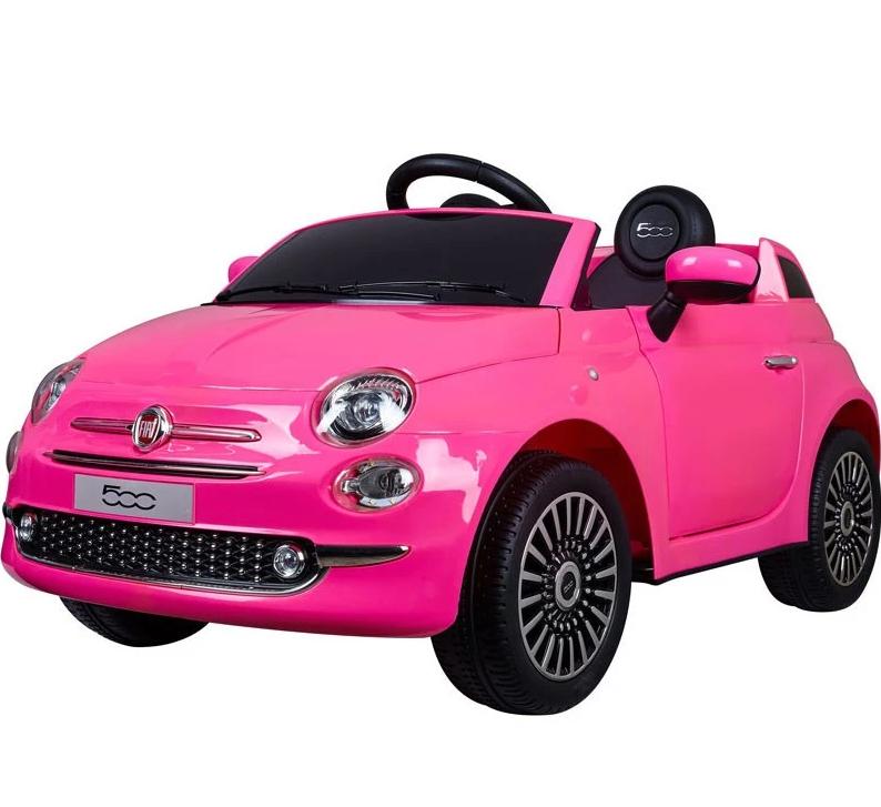 Fiat 500 Roze 12volt Kinderauto Accu Auto Speelgoed Dekinderen Auto