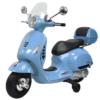 Vespa Kinder Scooter Blauw 12V FULL OPTIONS